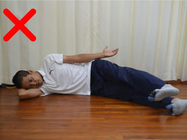 多裂筋のトレーニング(腹横筋)